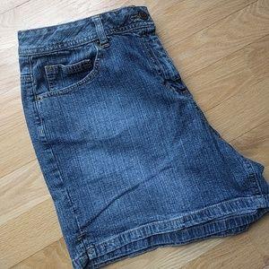 St. John's Bay denim stretch shorts
